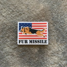 Fur Missile Flag PVC Patches