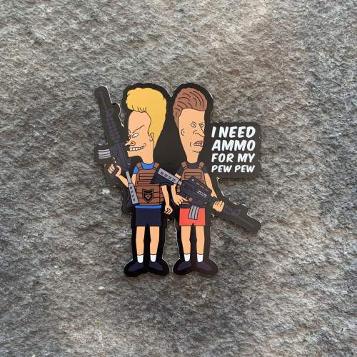 Beavis & Butthead Ammo for my Pew Pew Vinyl Decal
