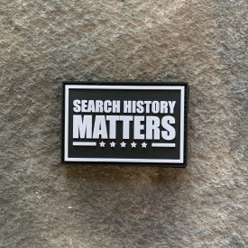 Search History Matters PVC Patch