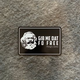 Karl Marx Hungry Santa Meme Vinyl Decal