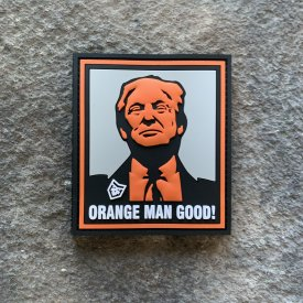 Orange man good PVC Patch