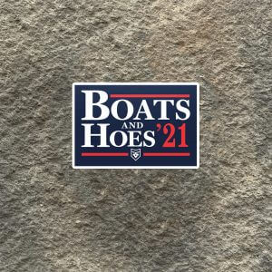 Boats and Hoes 21 Vinyl Decal
