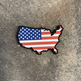 USA Shaped American Flag PVC Patch