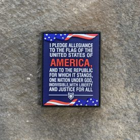 The Pledge of Allegiance PVC Patch