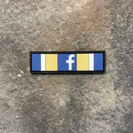 Facebook Action Ribbon:   3 Day Ban PVC Patch