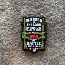 Psalm 144:1 Blessed be the Lord PVC Patch