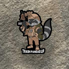 Trash Pandas Up Vinyl Decal