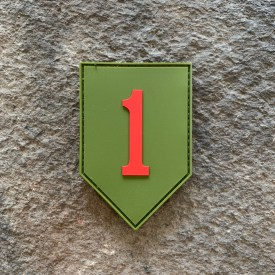 Army 1st Infantry Division Big Red 1 PVC Patch