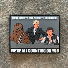 Star Wars/Airplane Movie Mash Up- We're All Counting on You PVC Morale Patch