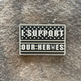 Ryan Weaver Collection:   I support our heroes PVC Morale Patch