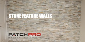 Portland stone feature wall