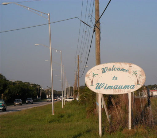 Wimauma FL - Welcome Sign
