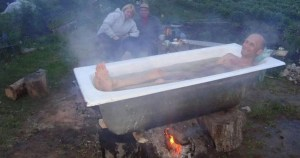 dangerous outdoor bathtub