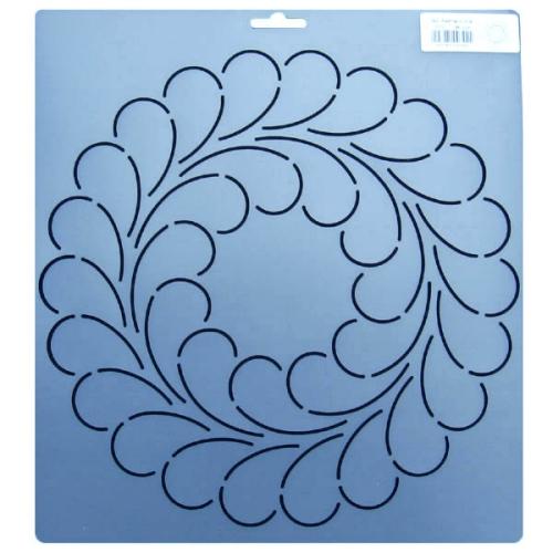 stencil plume pour patchwork
