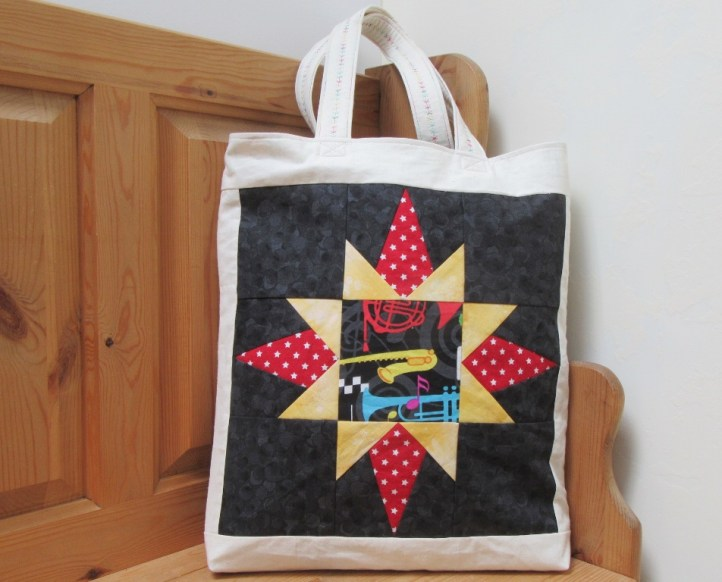 Music Star tote bag. Foundation paper piecing