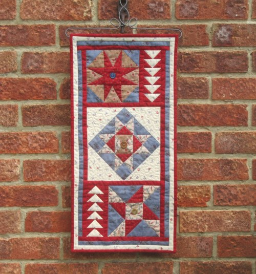 Wall hanging finished by Allison Reid