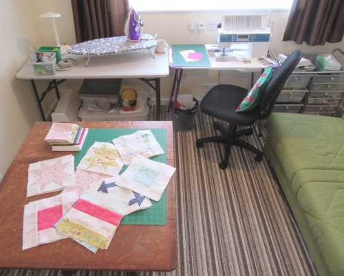 Sewing room - cutting and piecing by Allison Reid