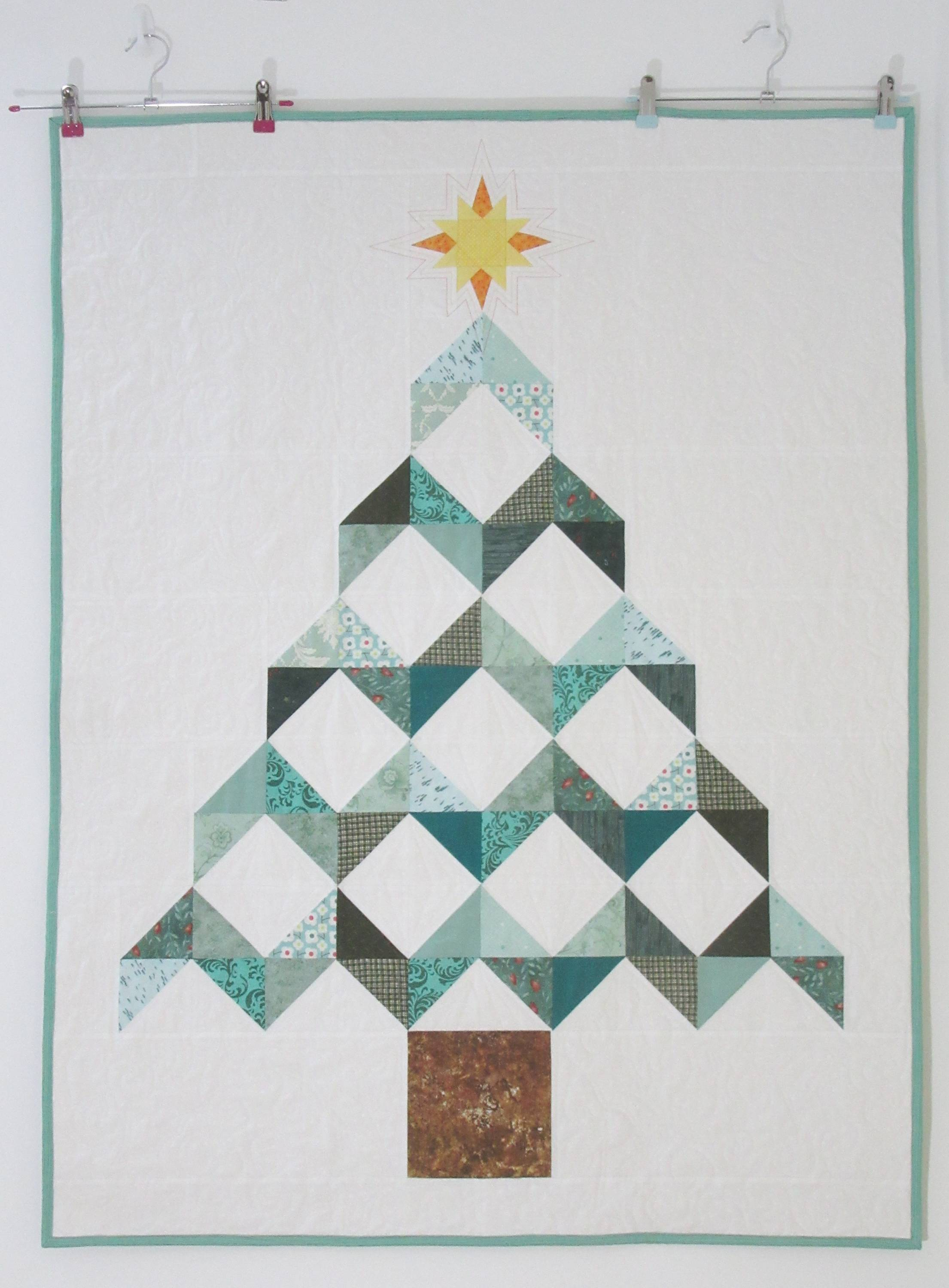 Christmas Tree Chevron Quilt New Every Morning