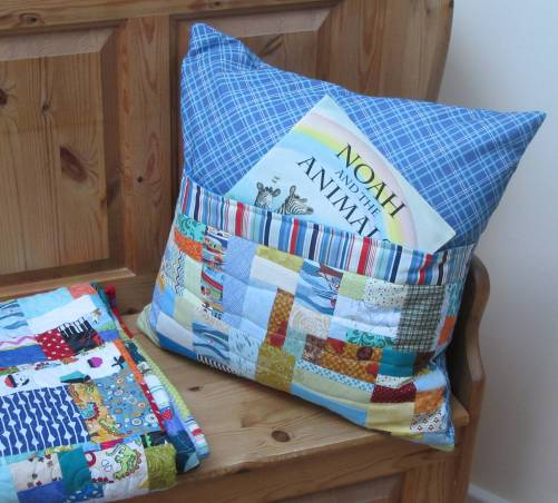 Blue Book Pillow by Allison Reid