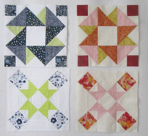 Quilt Club blocks 6a and 6b by Allison Reid