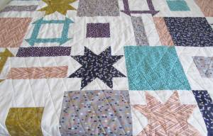 Dashing Stars quilting completed by Allison Reid