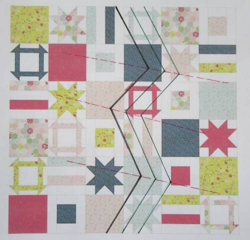 Dashing Stars quilting diagram by Allison Reid