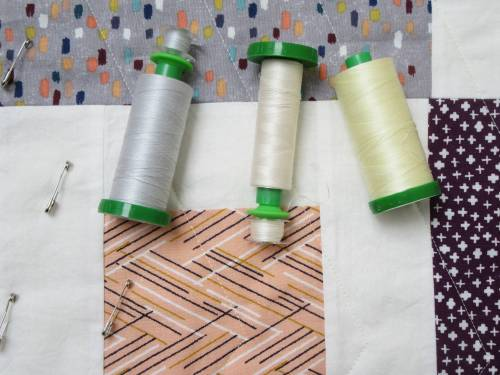 Dashing Stars quilting thread choice by Allison Reid