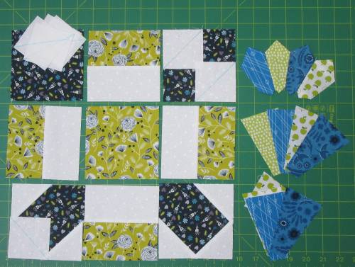 PS Quilt Club final blocks ready for piecing by Allison Reid