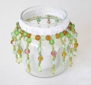 Beaded tealight (2) by Allison Reid
