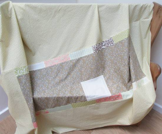 Square in a Square quilt back (1) by Allison Reid