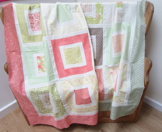 Square in a Square quilt tops by Allison Reid