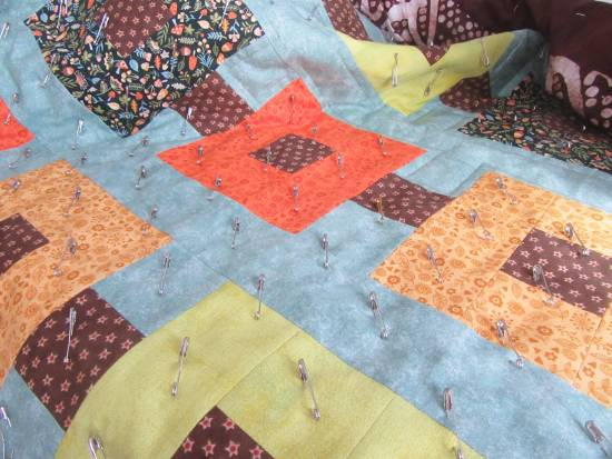 Autumn wallhanging quilting by Allison Reid