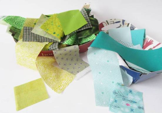 Rainbow Scrap Challenge 2020 green strips by Allison Reid