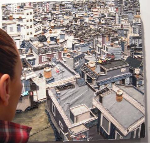 Quilt contemporáneo en ARCO Madrid en tela de tejano