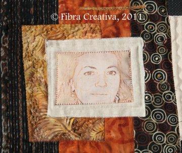 Quilt retrato con foto impresa sobre tela