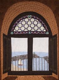 cartel exposición nacional de patchwork Cambrils 2011