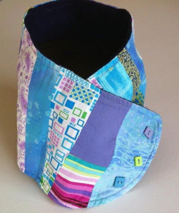Cuello en patchwork original y joven