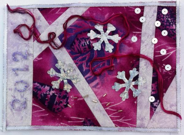 tarjeta de navidad de patchwork