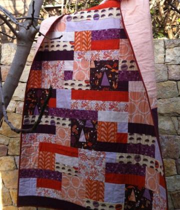 patrón colcha de patchwork contemporáneo