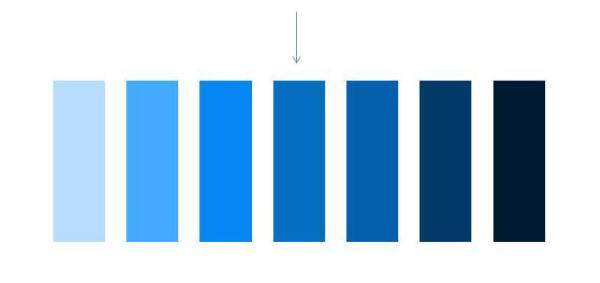 degradado de azul