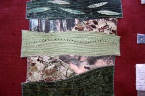 art quilt con fotos impresas sobre tela de seda