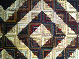 log cabin, exposición France patchwork en Sitges 2012