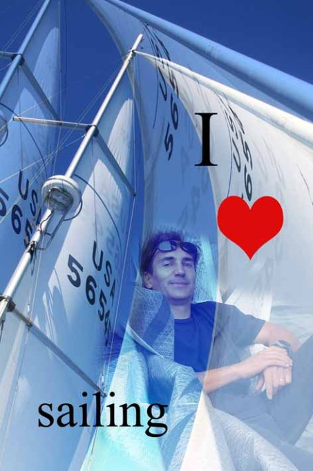 Funda para smartphone original I love sailing