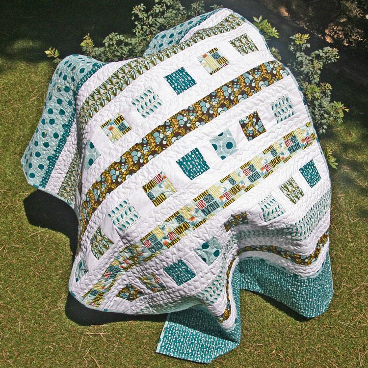 colcha de patchwork fácil
