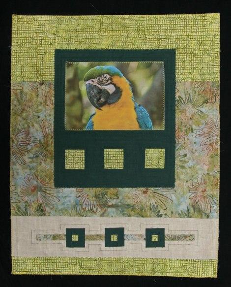 Kit de patchwork con lino, batik y foto impresa en tela - Fibra Creativa 2014