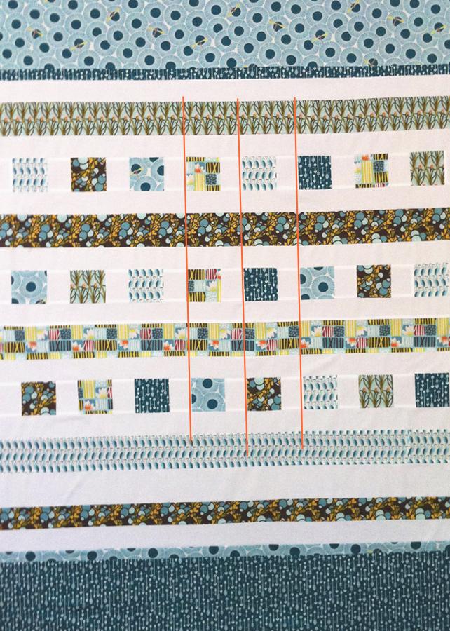 como hacer un quilt moderno alinear los cuadrados