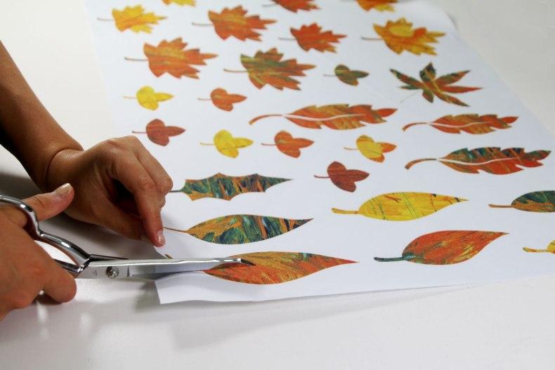 Panneau prêt à découper Feuilles d'automne - Fibra Creativa