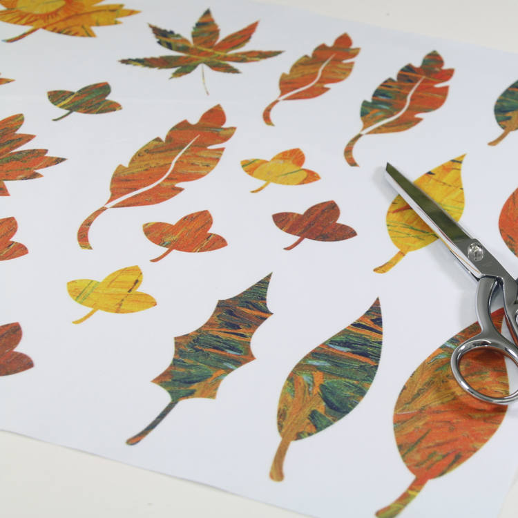 panel estampado hojas de otoño para patchwork Fibra Creativa