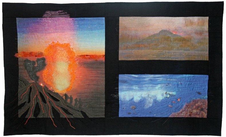 stromboli quilt de France Buyle de seda estampada digitalmente