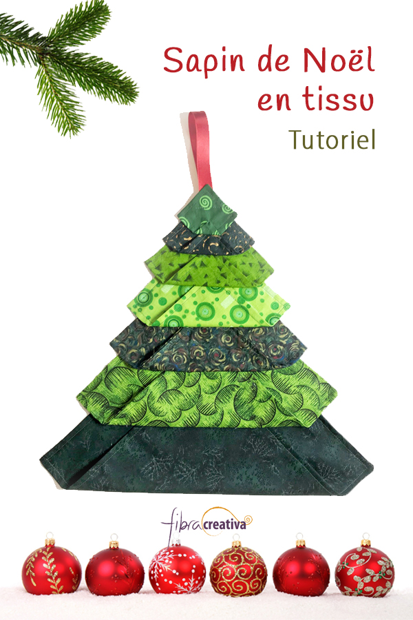 comment faire un sapin de Noël durable en tissu patchwork DIY facile et rapide